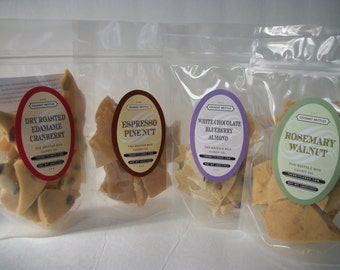 Brittle of the Month Club 6 months 6 different brittles 5oz bags  each month Candy lovers College Student Gift!