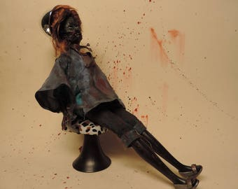 Bad day at the salon zombie doll