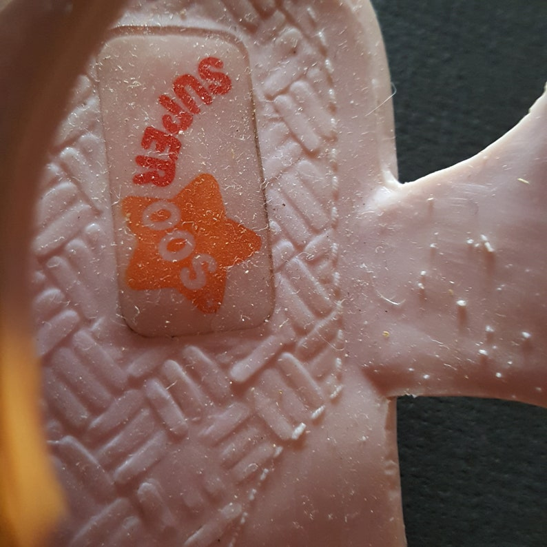 70d110b862dc Pink jellies doll shoes baby shoes sandals Superoos vintage
