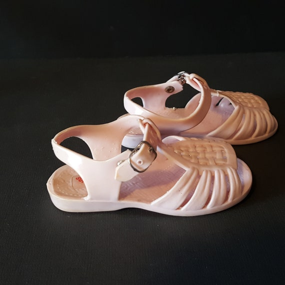 296c9863598f pink jellies doll shoes baby shoes sandals Superoos vintage