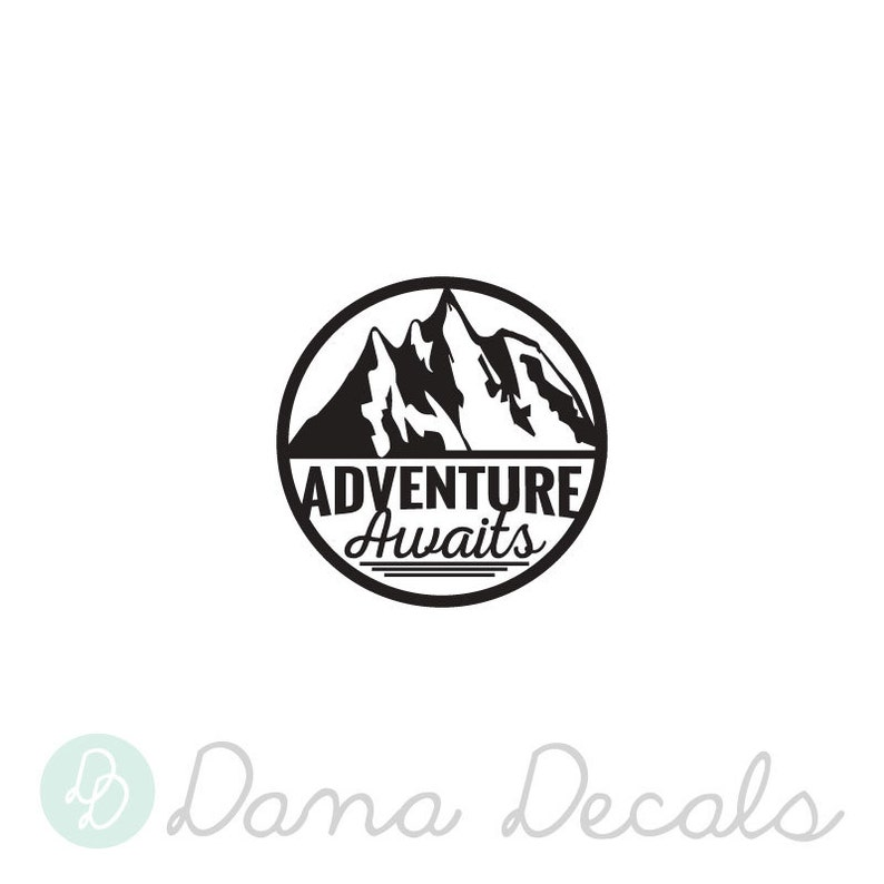 Adventure is Out There Decal Sticker Wanderlust Mountains Vinyl Wall Decal Over 50 Colors Adventure Awaits