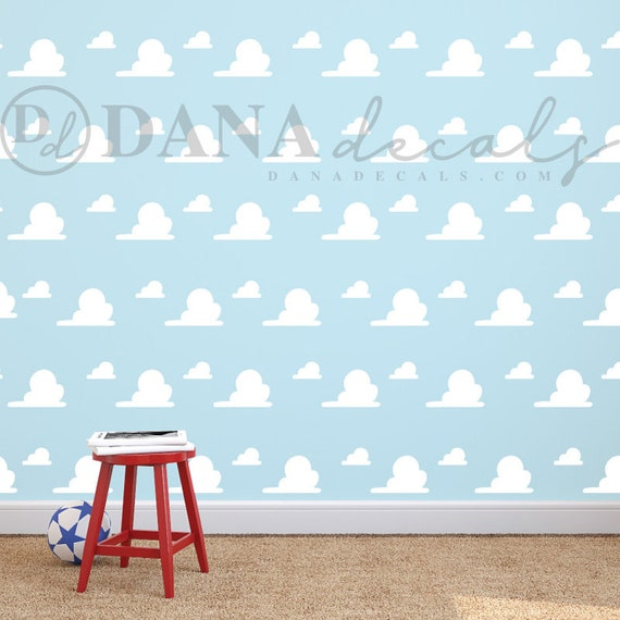 Toy Story Inspired Cloud Pattern Wall Art Vinyl Decal Cloud Etsy