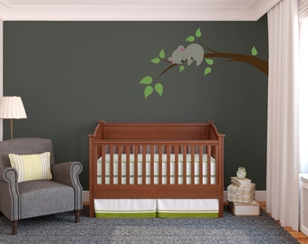 Wall Decal Custom Vinyl Art Stickers - Sleeping Koala On A Branch