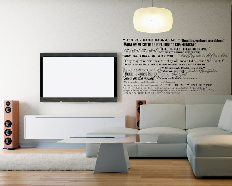 famous movie quotes wall quotes decal collection classic   etsy