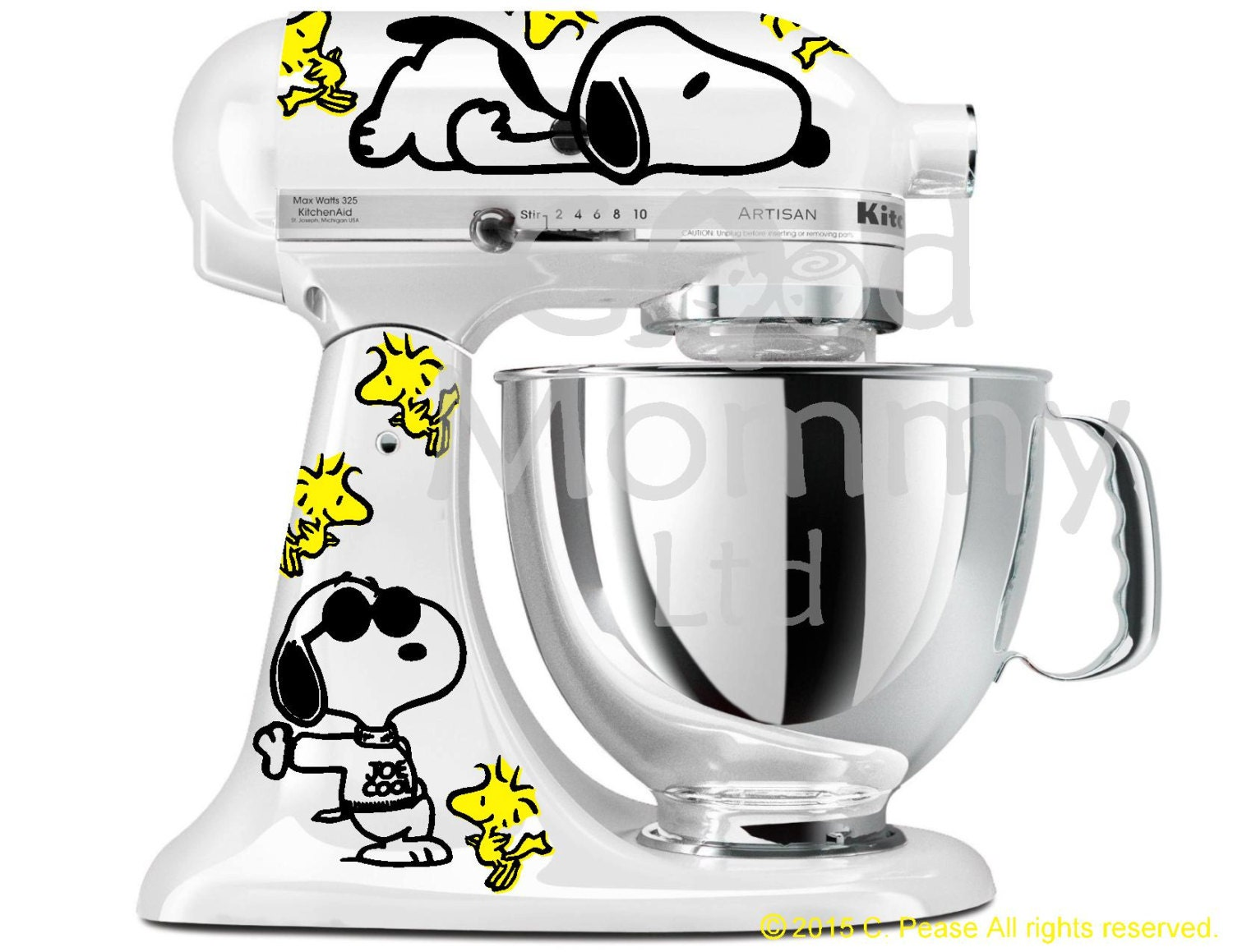 peanuts inspired stand mixer decal kit for your kitchenaid etsy rh etsy com