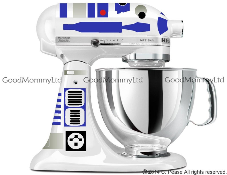 r2d2 decal kit for your kitchenaid stand mixer star wars etsy rh etsy com