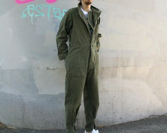 26b554402484 Vintage Military Coveralls Cotton jumpsuit