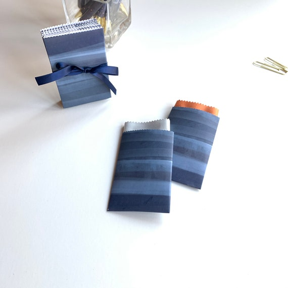 Indigo Blues Handmade Gift Card/Lens Cloth/Wedding Favor/ Paper Pouch 10