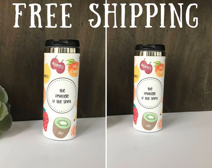 2 Personalized Colorful Fruitage of the Spirit Drinking Tumblers