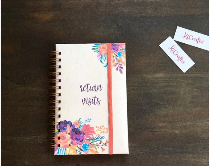 Personalized Spiral Bound Handmade Return Visit Book - Autumn