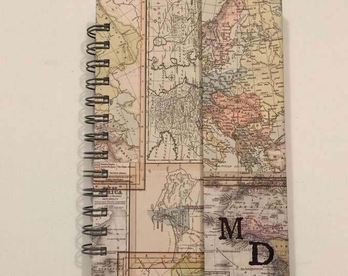 Customizable World Map Handmade Return Visit Book with magnetic flap