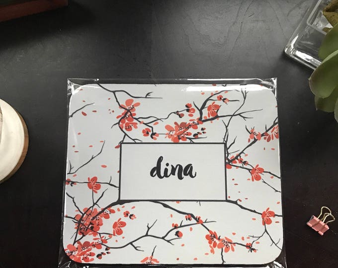 Custom Handmade Mousepad Cherry Blossoms - Personalized