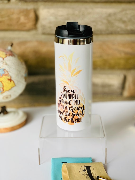 Pineapple Pink and Gold Tumbler