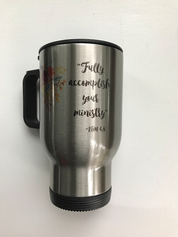 Personalized Stainless Steel Travel Mug - Pioneer School
