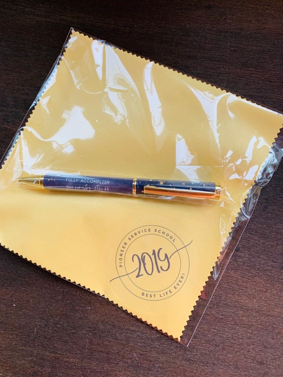 Pioneer Microfiber Cloth and Pen Gift Set - Yellow