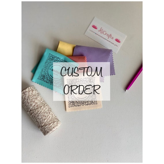 Reserved Custom Order 100 Handmade Gold 2019 International Convention Gift Lens Cloths