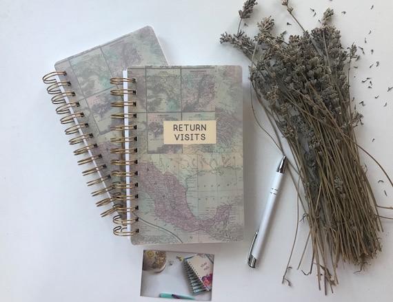 Handmade Best Life Ever Return Visit Book Antique Map Design