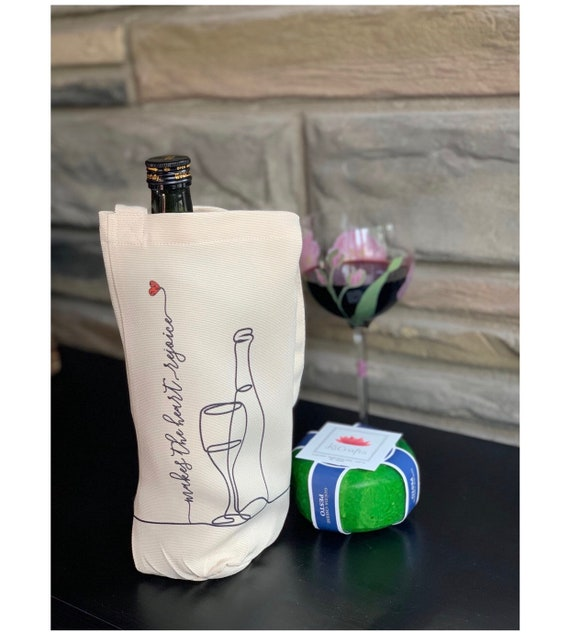 Wine Gift Bags- Set of 2- Makes the heart rejoice