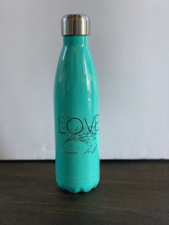 Love Never Fails Stainless Steel Water Bottle 17oz