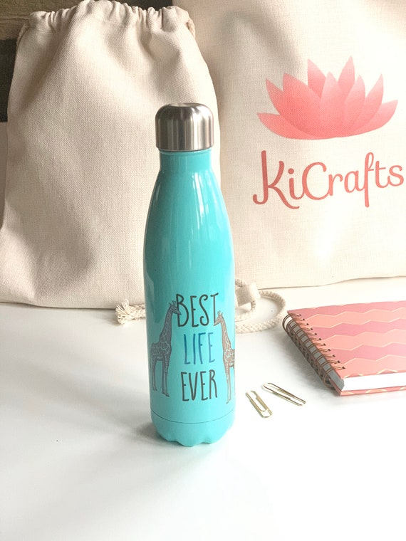 Best Life Ever 16oz. Stainless Steel Water Bottle- Animals