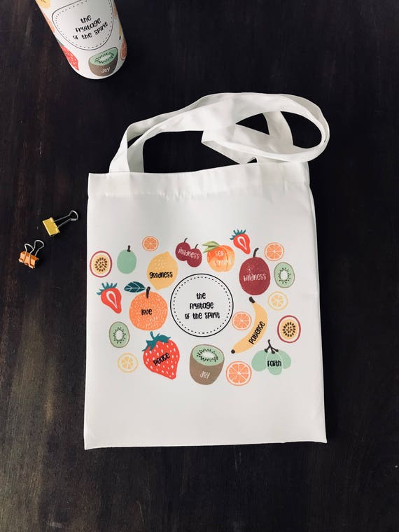 5 Everday Fruitage of the Spirit Canvas Bags