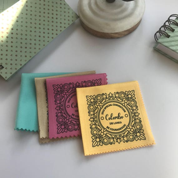 Handmade Assorted Monogram Style 2018 Special Convention Gift Lens Cloth - Sri Lanka