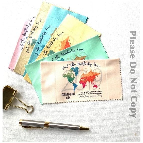 Handmade Assorted 2019 International Convention Gift Lens Cloths by KiCrafts