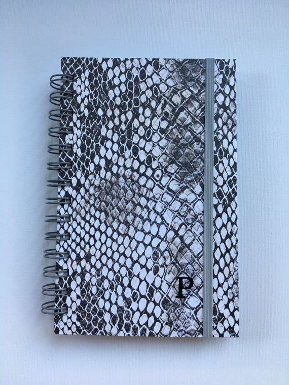 Snake Print Handmade Return Visit Book with Elastic Band