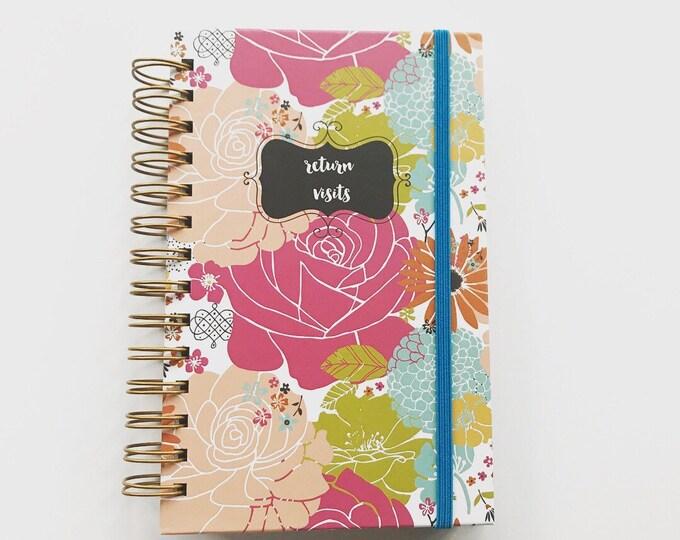 Colorful Blooms Handmade Return Visit Book