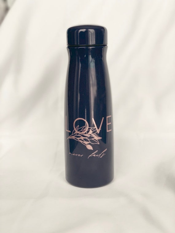 Love Never Fails navy Stainless Steel Thermos 17oz