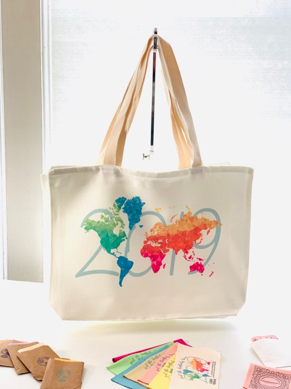 Large Colorful Canvas Tote 2019 Convention International Convention Design