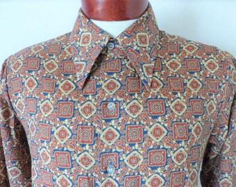 Vintage anni plaid colletto camicia manica lunga espresso etsy
