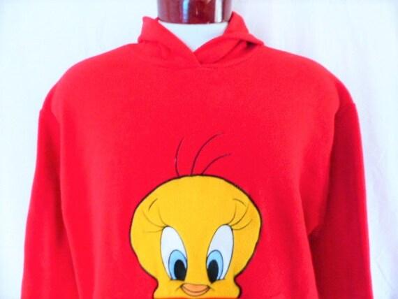 162f3dd8d17 cute kawaii vintage 90s Tweety Bird Looney Tunes red reverse
