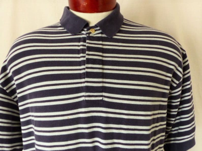 9b066dee3 Tommy Hilfiger vintage 90 s navy blue pique knit polo