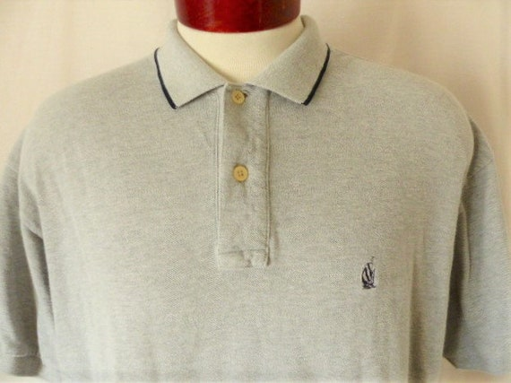 Vintage TOMMY Hilfiger Polo Rugby Tshirt 90s Embroidery Minimalist Logo Large