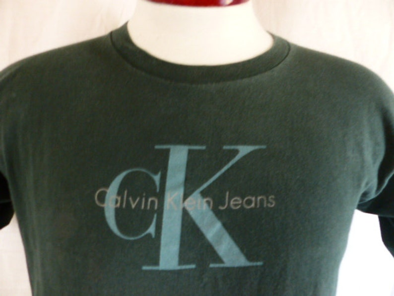 19783462e Vintage 90s Calvin Klein Jeans CK Jeans forest green graphic | Etsy