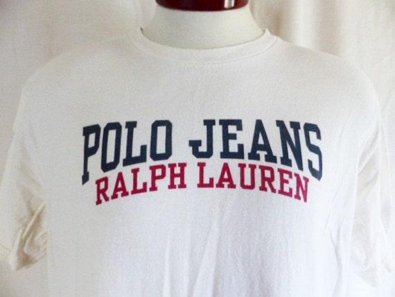 Vintage des années 90 Ralph Lauren Polo Jeans Co. ivoire blanc   Etsy 3a5bf82b4715