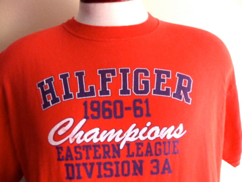 ff740f65 Vintage 90's Tommy Hilfiger champions Eastern League red | Etsy