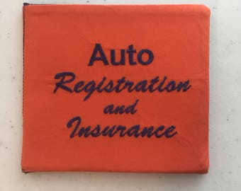 Car Insurance Holder Etsy