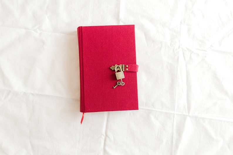 The Secret Diary Red Linen  Made-to-Order image 1