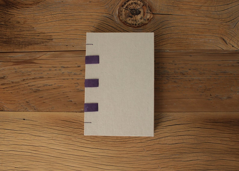Purple Leather & Linen Journal  The Uncut Book image 0