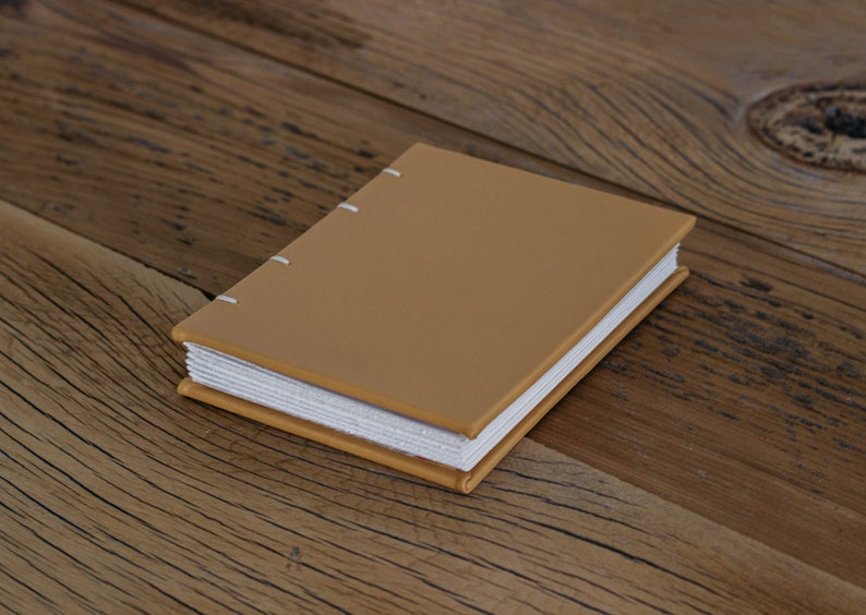 Yellow  Small Leather Coptic Journal image 0