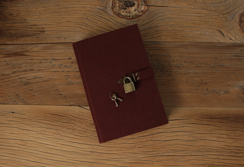 The Secret Diary Brown Linen  Made to Order image 1