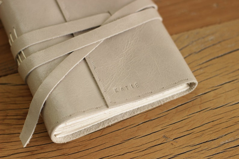 Pattern Embossed Personalized with name or Initials  Leather image 1