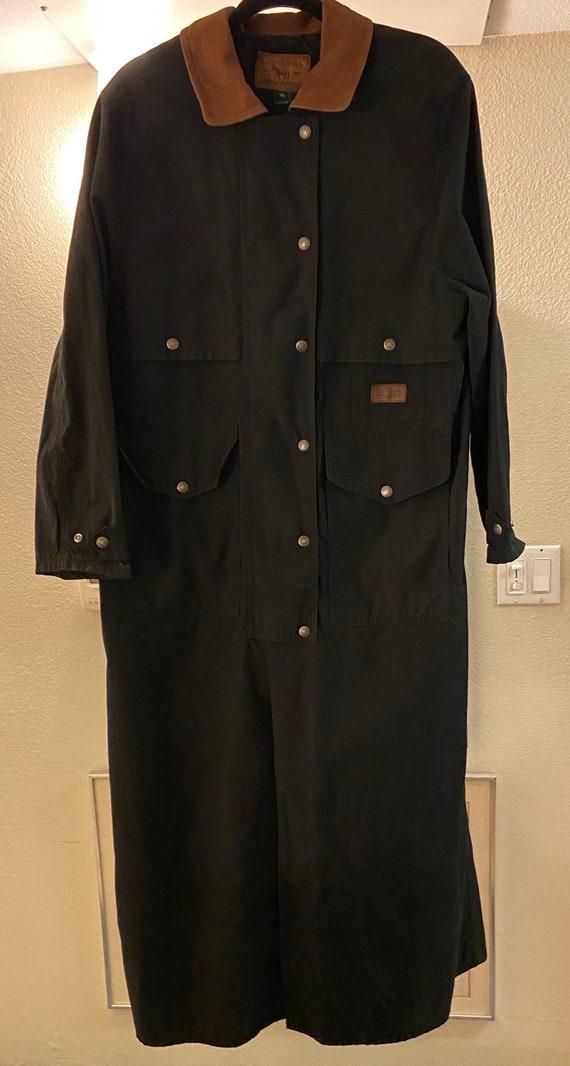 1980's Vintage Lauren Ralph Lauren Black Coat wit… - image 8