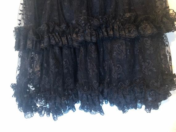 80s Vintage Jessica McClintock Black Lace Dress - image 6
