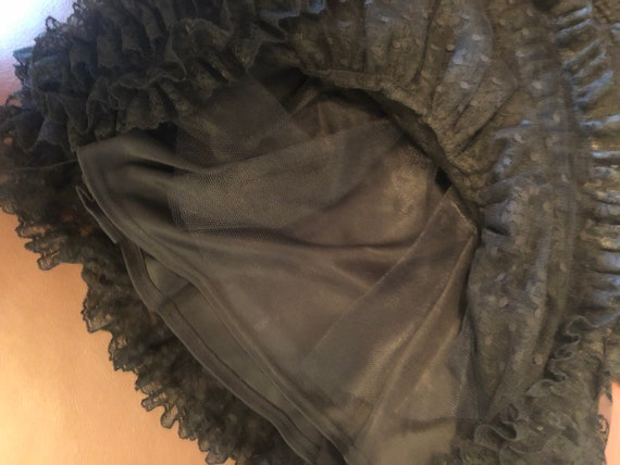 80s Vintage Jessica McClintock Black Lace Dress - image 3