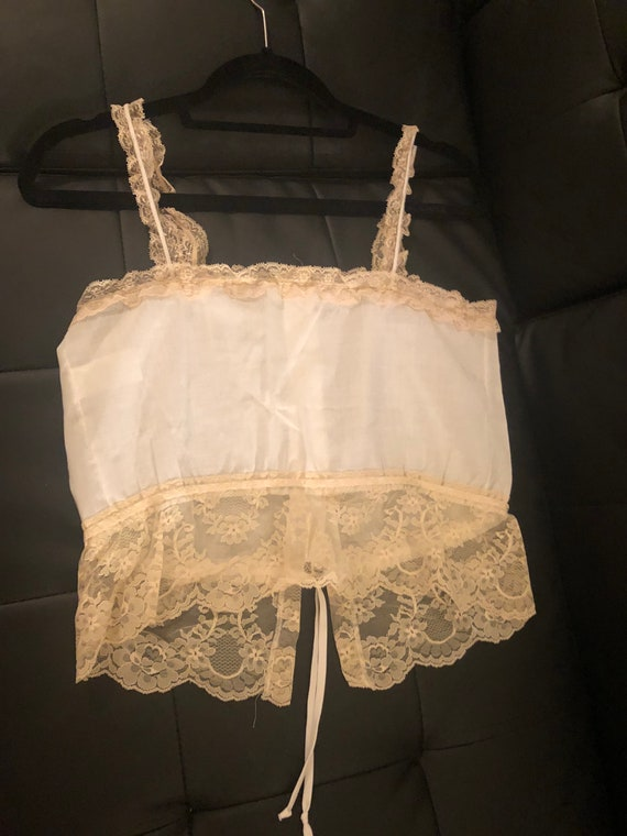 Vintage JC Penneys  lined lace tank size small