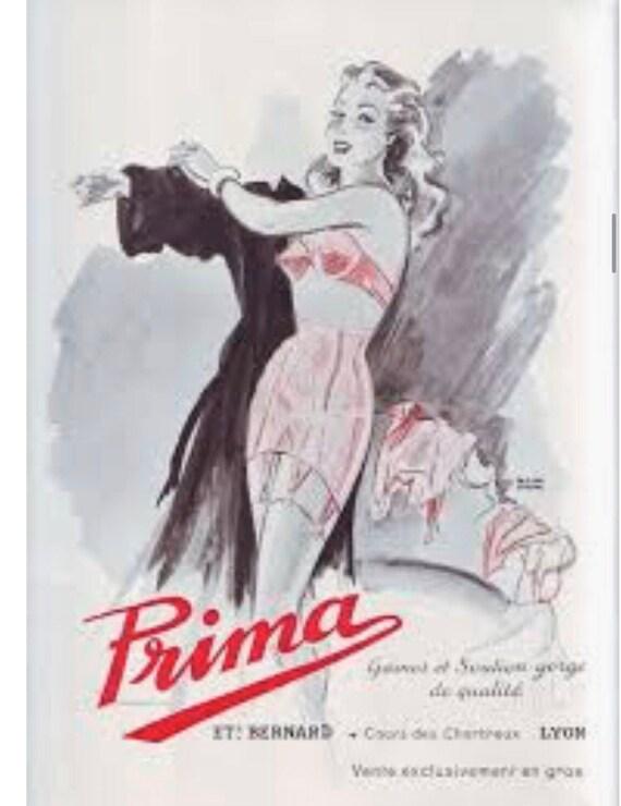 Vintage 1980s Black Lace Corset by Prima Size 36 - image 4