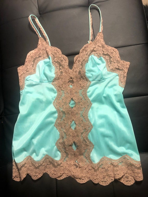 70s Vintage Frederick's of Hollywood Lace Camisole - image 1
